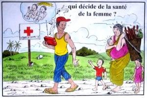 Poster uit een reeks over de gezondheid van de vrouw